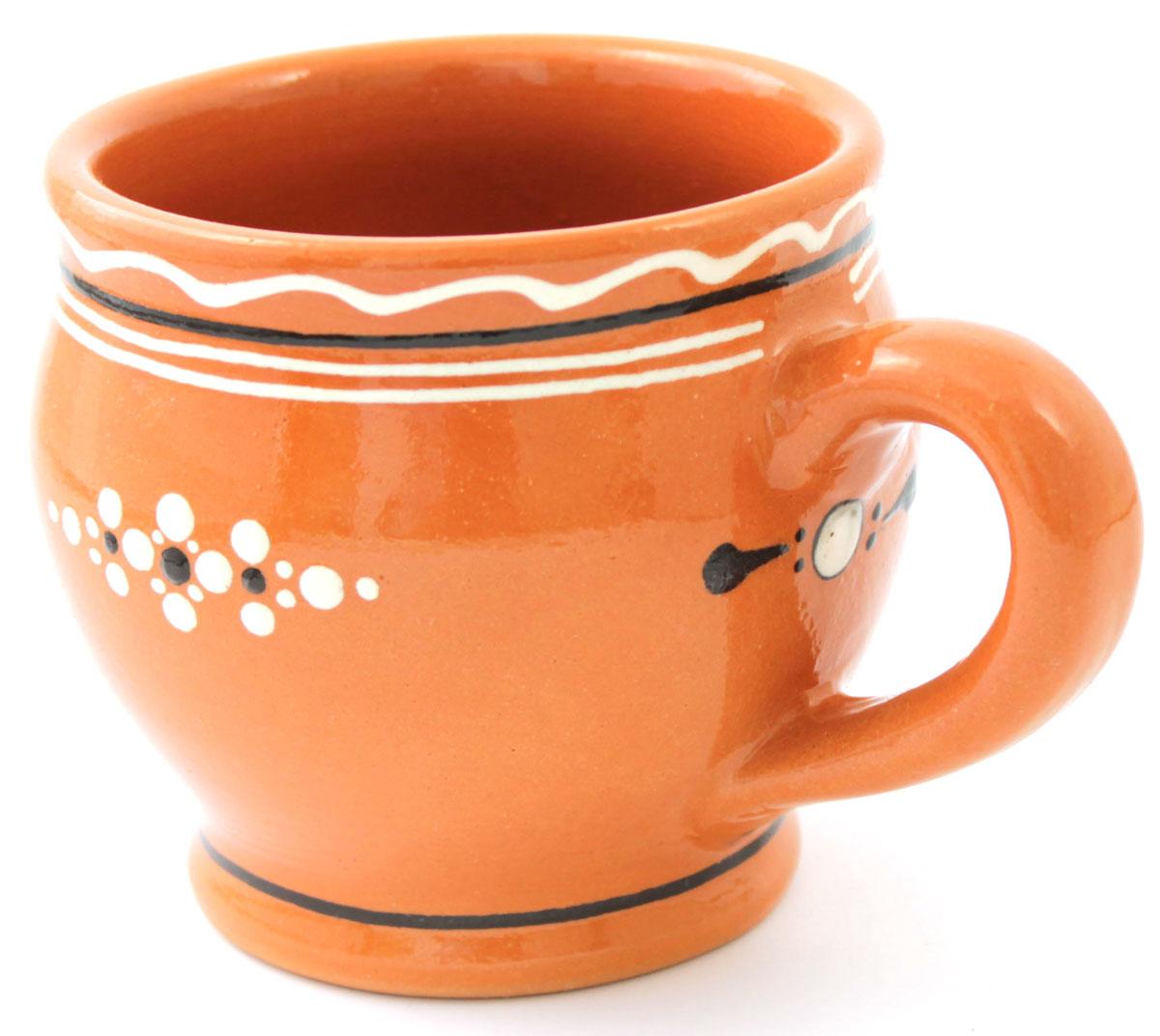 Кружка для молока Ломоносовская керамика, 300 млЛ0723Кружка для молока Ломоносовская керамика выполнена из высококачественной глины и оформлена оригинальным рисунком. Такая кружка прекрасно оформит стол и пригодится на любой кухне.