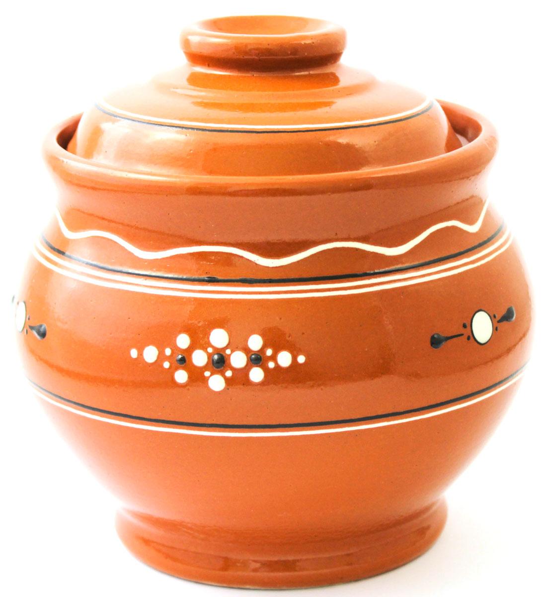Горшок для запекания Ломоносовская керамика Кашник, с крышкой, 1,8 лЛ0727Горшок для запекания Ломоносовская керамика с крышкой выполнен из высококачественной глины. Уникальные свойства глины и толстые стенки изделия обеспечивают эффект русской печи при приготовлении блюд. Блюда, приготовленные в керамическом горшке, получаются нежными исочными. Вы сможете приготовить мясо, сделать томленые овощи и все это без капли масла. Этоодин из самых здоровых способов готовки.