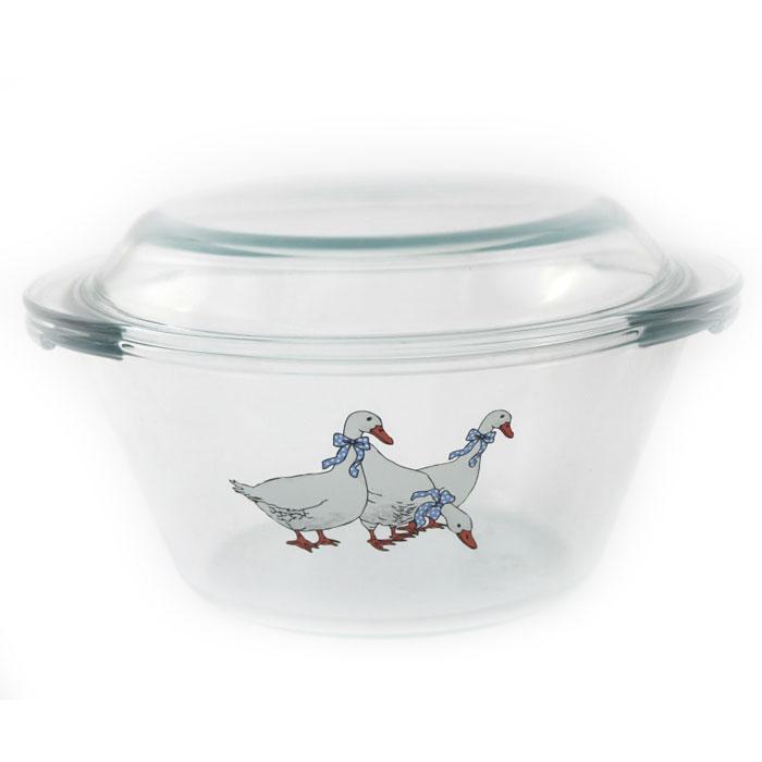 Кастрюля Ломоносовская керамика Гуси, 2 л. КГ3-3 посуда для микроволновой печи ruges кастрюля для микроволновки лок