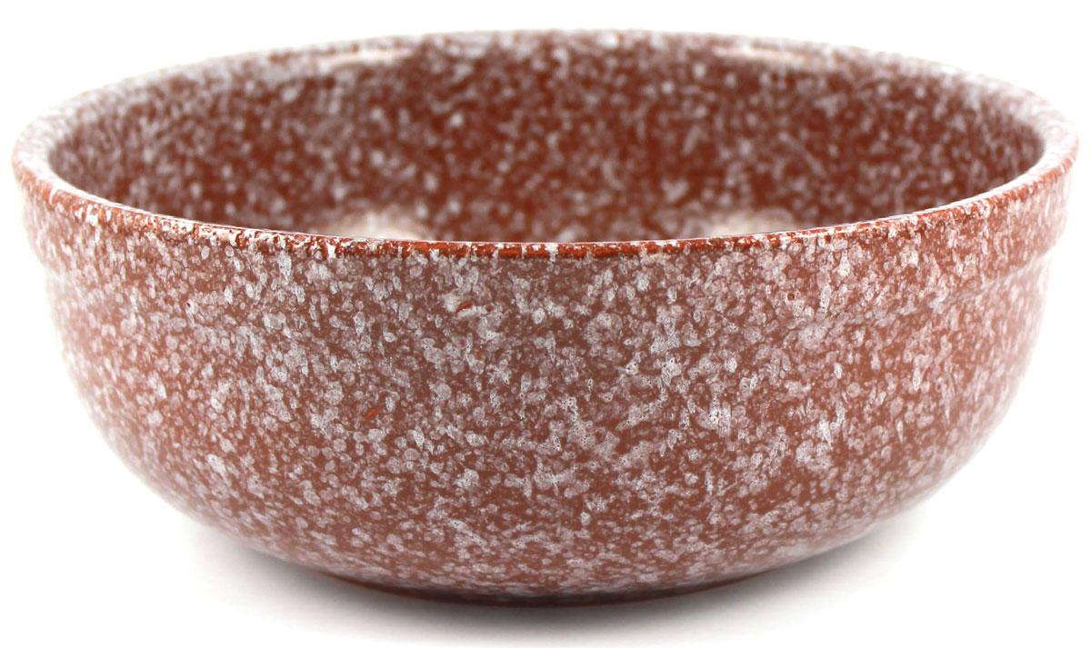 Салатник итальянский Ломоносовская керамика Мрамор, цвет: коричневый, 1 л амвит трейд салатник тосканский петух 13х7 см в ассортименте керамика