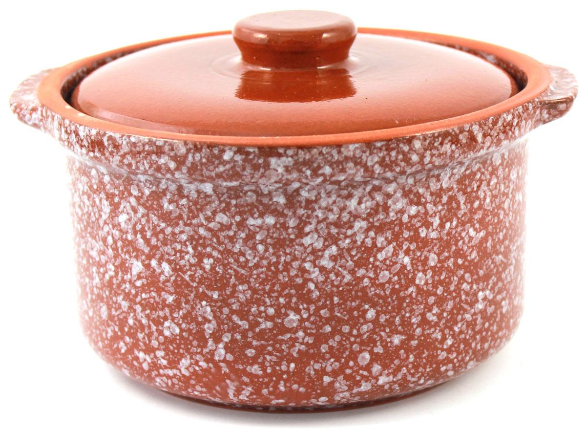 Кастрюля керамическая Ломоносовская керамика с крышкой, цвет: коричневый мрамор, 400 мл1ГС3мк-1Кастрюля Ломоносовская керамика выполнена из высококачественной глины. Покрытие абсолютно безопасно для здоровья, не содержит вредных веществ.Кастрюля оснащена удобными боковыми ручками и керамической крышкой. Она плотно прилегает к краям посуды, сохраняя аромат блюд.