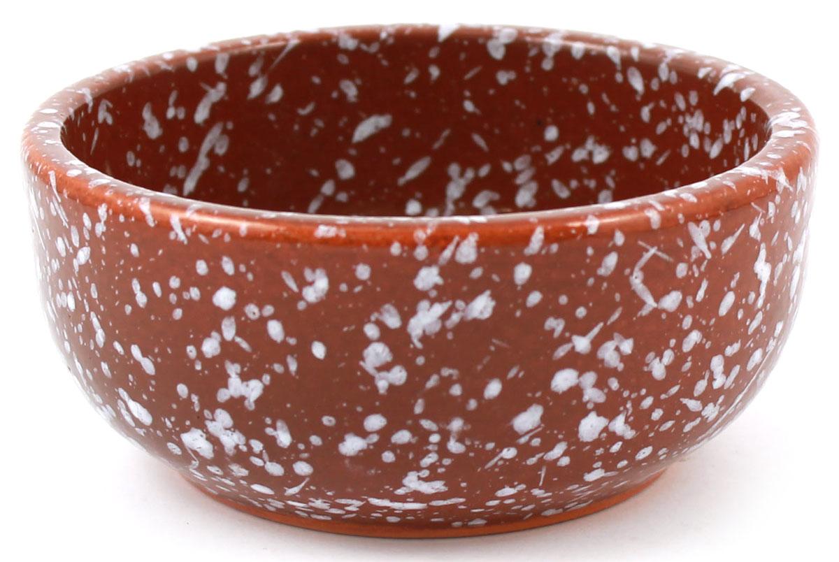 Розетка Ломоносовская керамика Мрамор, цвет: коричневый, 0,15 л. 1Р3мк-11Р3мк-1Розетка Ломоносовская керамикаизготовлена из глины. Изделие отлично подойдет для подачи на стол меда, варенья, соуса, сметаны и многого другого.Такая розетка украсит ваш праздничный или обеденный стол, а яркое оформление понравится любой хозяйке. Можно использовать в духовке и микроволновой печи.