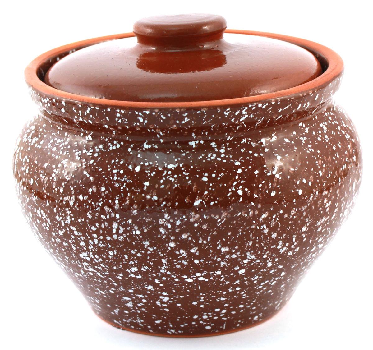 Горшок для запекания Ломоносовская керамика, с крышкой, цвет: коричневый мрамор, 800 мл1Г3мк-11Горшок для запекания Ломоносовская керамика с крышкой выполнен из высококачественной глины. Уникальные свойства глины и толстые стенки изделия обеспечивают эффект русской печи при приготовлении блюд. Блюда, приготовленные в керамическом горшке, получаются нежными исочными. Вы сможете приготовить мясо, сделать томленые овощи и все это без капли масла. Этоодин из самых здоровых способов готовки.