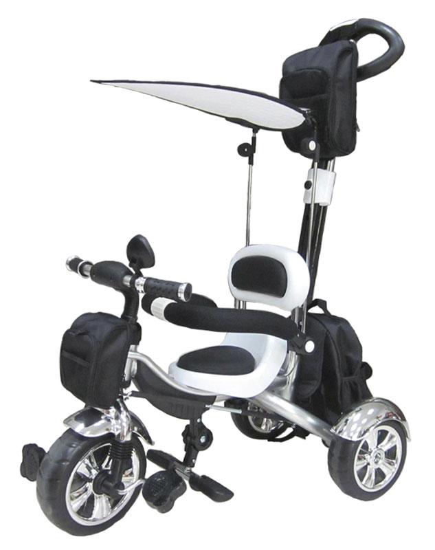 Pitstop Велосипед детский трехколесный цвет черный белый