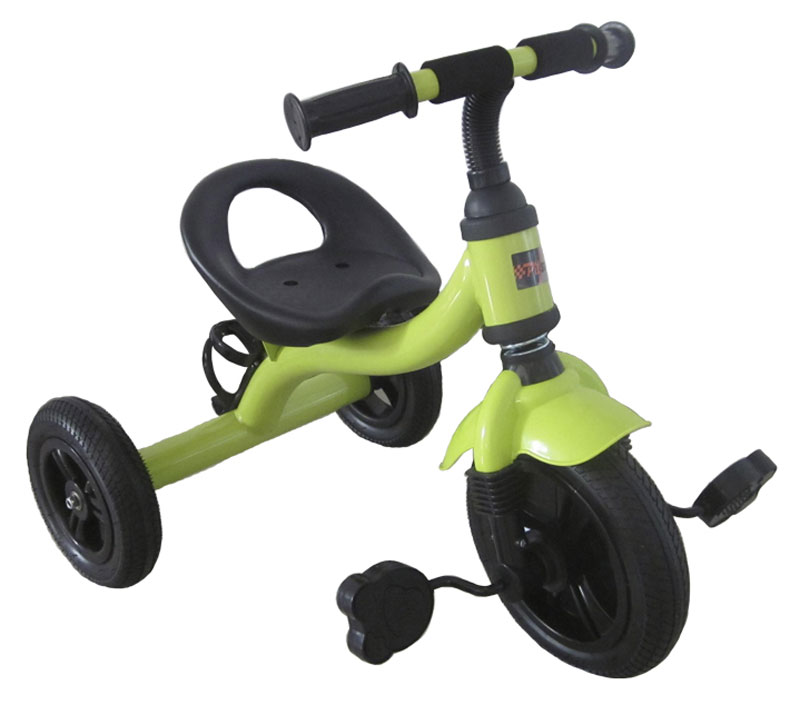 Pitstop Велосипед детский трехколесный цвет светло-зеленый MT-BCL0815008MT-BCL0815008Удобный, яркий и надежный трехколесный детский велосипед Pit Stop выполнен из высококачественных материалов и покрашен нетоксичными красками, безопасными для здоровья ребенка. Такое транспортное средство, несомненно, понравится вашему малышу. Конструкцией предусмотрены большие надувные колеса, а также держатель для бутылки..Это детское транспортное средство прекрасно управляется даже самыми неопытными маленькими велосипедистами, ведь его конструкция тщательно продумана с учетом того, что кататься на этом велосипеде будут малыши. Велосипед изготовлен из качественных и прочных материалов, которые обеспечат долгий срок службы.