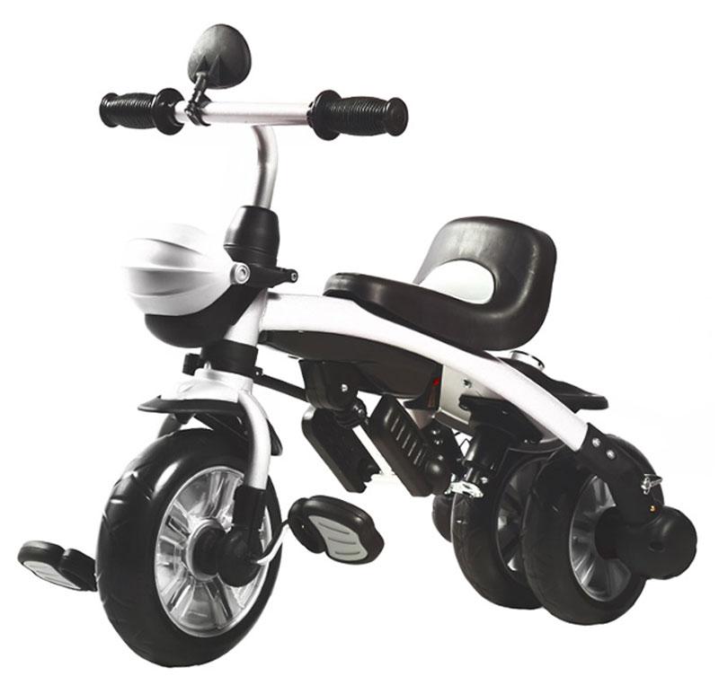 Велосипед-трансформер можно использовать от года и старше. Когда ребенок подрос и готов сам управлять велосипедом, можно убрать ручку, тент,  соединить задние колеса и использовать изделие как обычный двухколесный велосипед, при этом, за счет двойного. Детский трехколесный велосипед от  торговой марки Pit stop поможет сделать обычные прогулки на открытом воздухе веселыми и еще более полезными для малыша. Велосипед представлен в  классическом красном цвете, чем привлечет внимание не только родителей, но и ребенка.  Он оснащен мягким вращающимся сидением, в котором малыш сможет комфортно разместиться и самостоятельно ездить. В кресло также встроены  регулируемые ремни безопасности, которые помогут обеспечить дополнительную защиту для ребенка и уберечь его от травм во время катания. Велосипед  также дополнен широким козырьком, который поможет укрыть ребенка от солнечных лучей.  Одна из сторон велосипеда оснащена ручкой управления, а нижняя часть удобными подставками для ног, что позволяет отдохнуть малышу от  самостоятельной езды и доверить управление родителям. В нижней части велосипеда расположена пластиковая корзина, в которой можно возить  любимые игрушки ребенка с собой на прогулку. Такой детский трехколесный велосипед порадует малыша и станет для него надежным транспортным  средством.    Допустимый вес эксплуатации: 20 кг. Состав: металл, пластик, текстиль, резина.  Размер велосипеда: 110 x 97 x 50 см.  Диаметр заднего колеса: 9.5 дюймов.  Ширина покрышек: 4.5 дюймов.  Ремень безопасности: есть.  Козырек/капор: есть.  Родительская ручка: есть . Подставка для ног: есть.  Корзина для игрушек: есть.  Управление рулем: есть.  Сиденье: со спинкой.