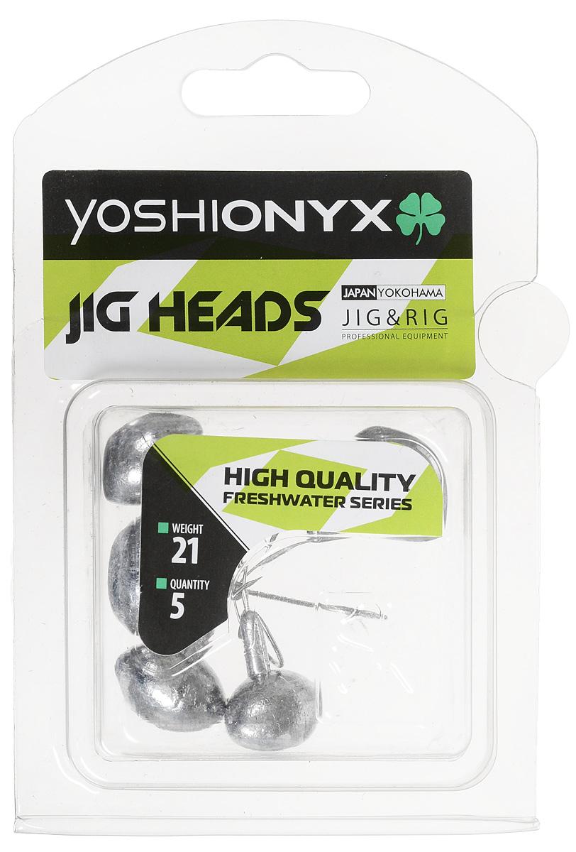 Джиг-головка Yoshi Onyx JIG Bros. Футбольный мяч, крючок Gamakatsu, 21 г, 5 шт