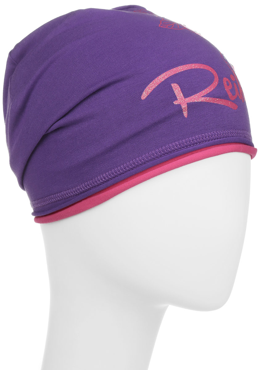Шапка для девочки Reike Мальва, цвет: фиолетовый. RKNSS17-MAL1. Размер 52RKNSS17-MAL1_violetСтильная шапка для девочки Reike Мальва, изготовленная из качественного хлопкового материала, отлично впишется в гардероб юной модницы. Модель с контрастным подкладом оформлена цветочным принтом со стразами и блестками в стиле серии. Уважаемые клиенты!Размер, доступный для заказа, является обхватом головы.