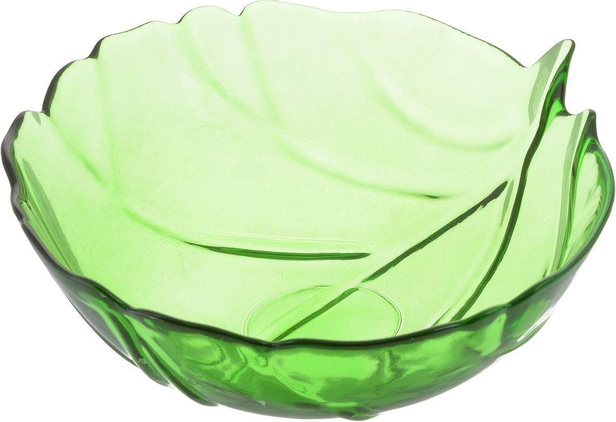 Салатник NiNaGlass Флори, цвет: зеленый, диаметр 20 см83-033-Ф200 ЗЕЛСалатник NiNaGlass Флори выполнен из высококачественного стекла и декорирован рельефным узором. Он подойдет для сервировки стола, как для повседневных, так и для торжественных случаев.Такой салатник прекрасно впишется в интерьер вашей кухни и станет достойным дополнением к кухонному инвентарю. Подчеркнет прекрасный вкус хозяйки и станет отличным подарком. Диаметр салатника (по верхнему краю): 20 см. Высота: 8 см.
