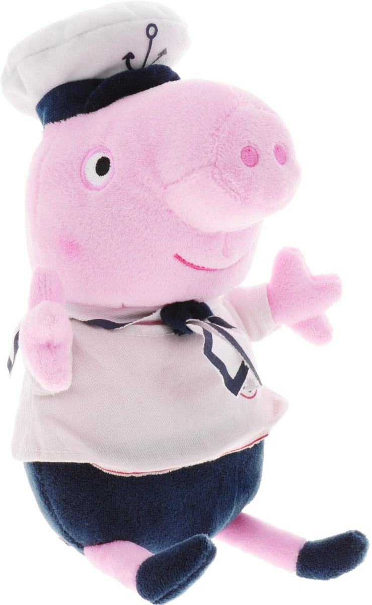 Peppa Pig Мягкая озвученная игрушка Джордж морячок 25 см мягкая игрушка peppa pig джордж с машинкой свинка розовый текстиль 18 см 29620