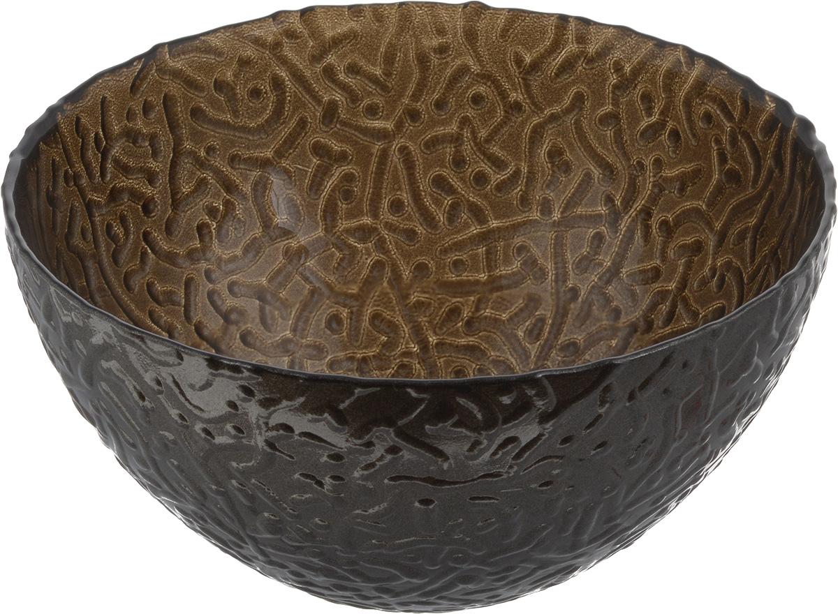 Салатник NiNaGlass Ажур, цвет: коричневый, диаметр 16 см83-041-ф160 ШОКМЕТСалатник NiNaGlass Ажур выполнен из высококачественного стекла и декорирован рельефным узором. Идеален длясервировки салатов, овощей и фруктов, ягод, вторых блюд,гарниров и многого другого. Он отлично подойдет как для повседневных, так и для торжественных случаев.Такой салатник прекрасно впишется в интерьер вашей кухни истанет достойным дополнением к кухонному инвентарю. Диаметр салатника (по верхнему краю): 16 см. Высота стенки: 8,5 см.
