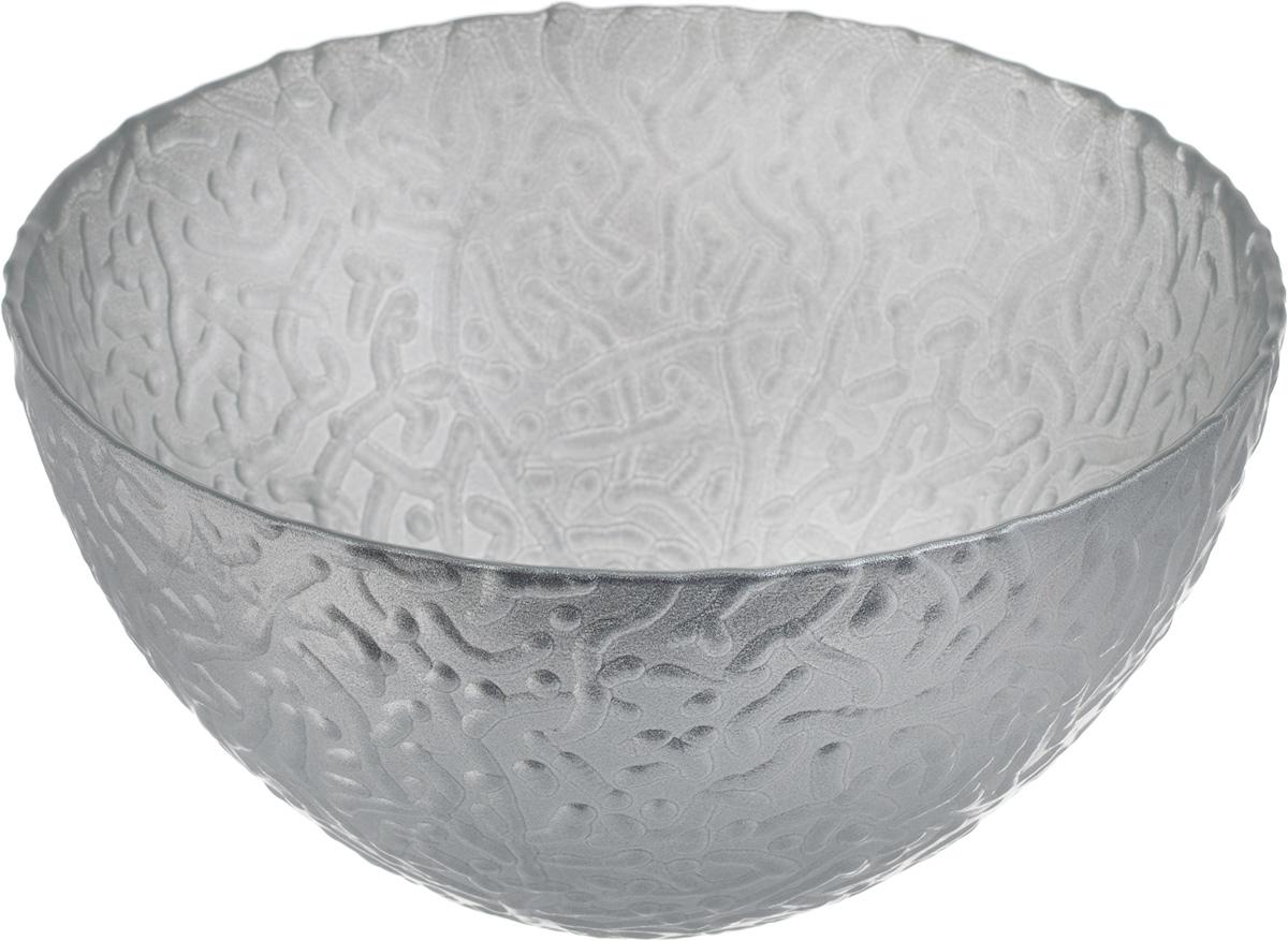 Салатник NiNaGlass Ажур, цвет: серебристый, диаметр 16 см83-041-Ф160 СЕРЕБМЕТСалатник NiNaGlass Ажур выполнен из высококачественного стекла и декорирован рельефным узором. Идеален длясервировки салатов, овощей и фруктов, ягод, вторых блюд,гарниров и многого другого. Он отлично подойдет как для повседневных, так и для торжественных случаев.Такой салатник прекрасно впишется в интерьер вашей кухни истанет достойным дополнением к кухонному инвентарю. Диаметр салатника (по верхнему краю): 16 см. Высота стенки: 8,5 см.