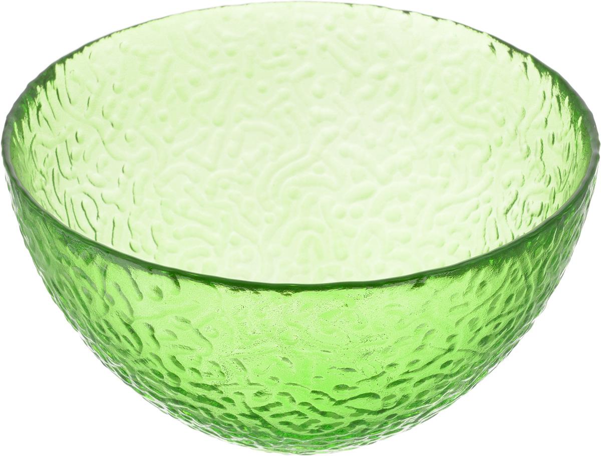Салатник NiNaGlass Ажур, цвет: зеленый, диаметр 16 см83-041-Ф160 ЗЕЛСалатник NiNaGlass Ажур выполнен из высококачественного стекла и имеет рельефную внешнюю поверхность. Такой салатник украсит сервировку вашего стола и подчеркнет прекрасный вкус хозяйки, а также станет отличным подарком.Диаметр салатника (по верхнему краю): 16 см. Высота салатника: 8,5 см.