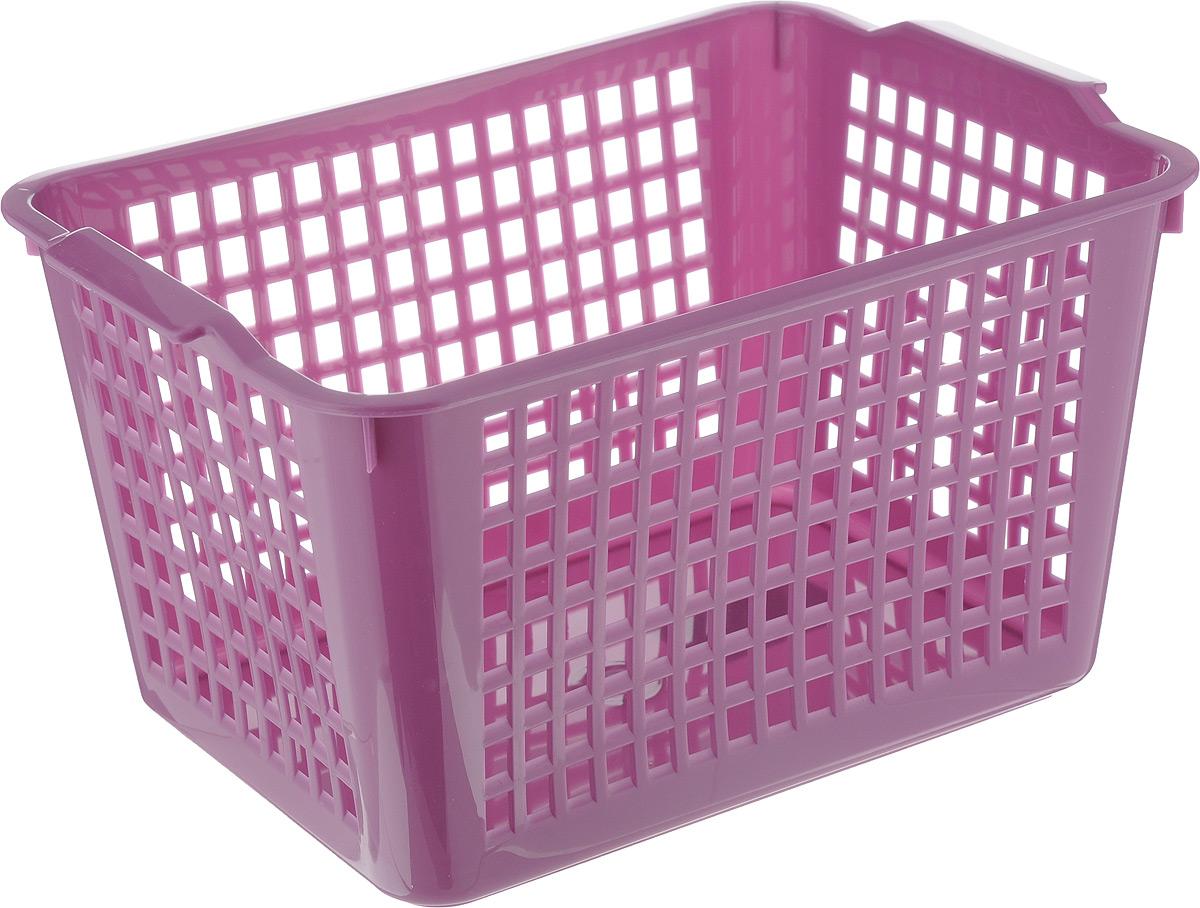 """Универсальная корзинка """"Econova"""" изготовлена из высококачественного пластика с перфорированными стенками и сплошным дном. Такая корзинка непременно пригодится в быту, в ней можно хранить кухонные принадлежности, специи, аксессуары для ванной и другие бытовые предметы, диски и канцелярию."""