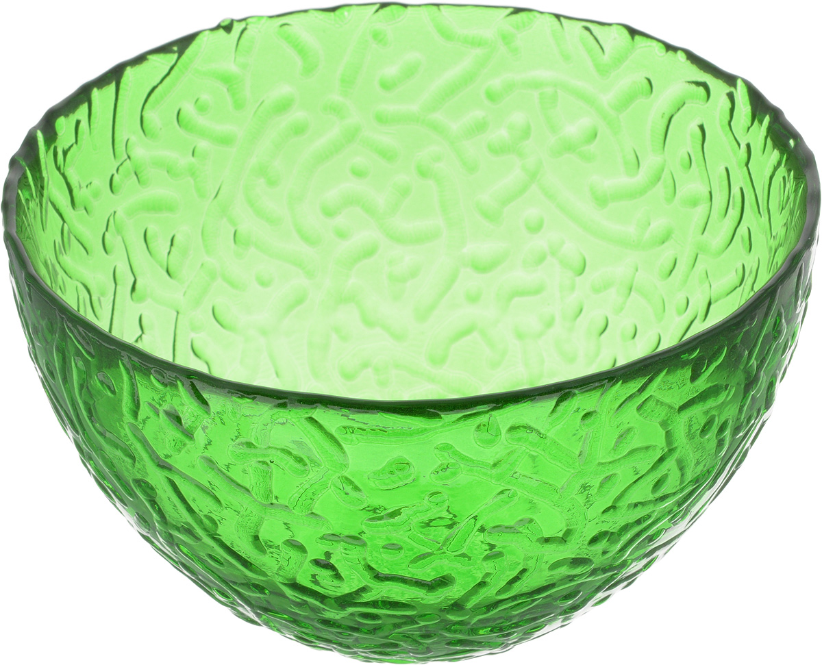 Салатник NiNaGlass Ажур, цвет: зеленый, диаметр 12 см83-040-Ф120 ЗЕЛСалатник Ninaglass Ажур выполнен из высококачественного стекла и имеет рельефную внешнюю поверхность. Такой салатник украсит сервировку вашего стола и подчеркнет прекрасный вкус хозяйки, а также станет отличным подарком.Диаметр салатника (по верхнему краю): 12 см. Высота салатника: 7,5 см.