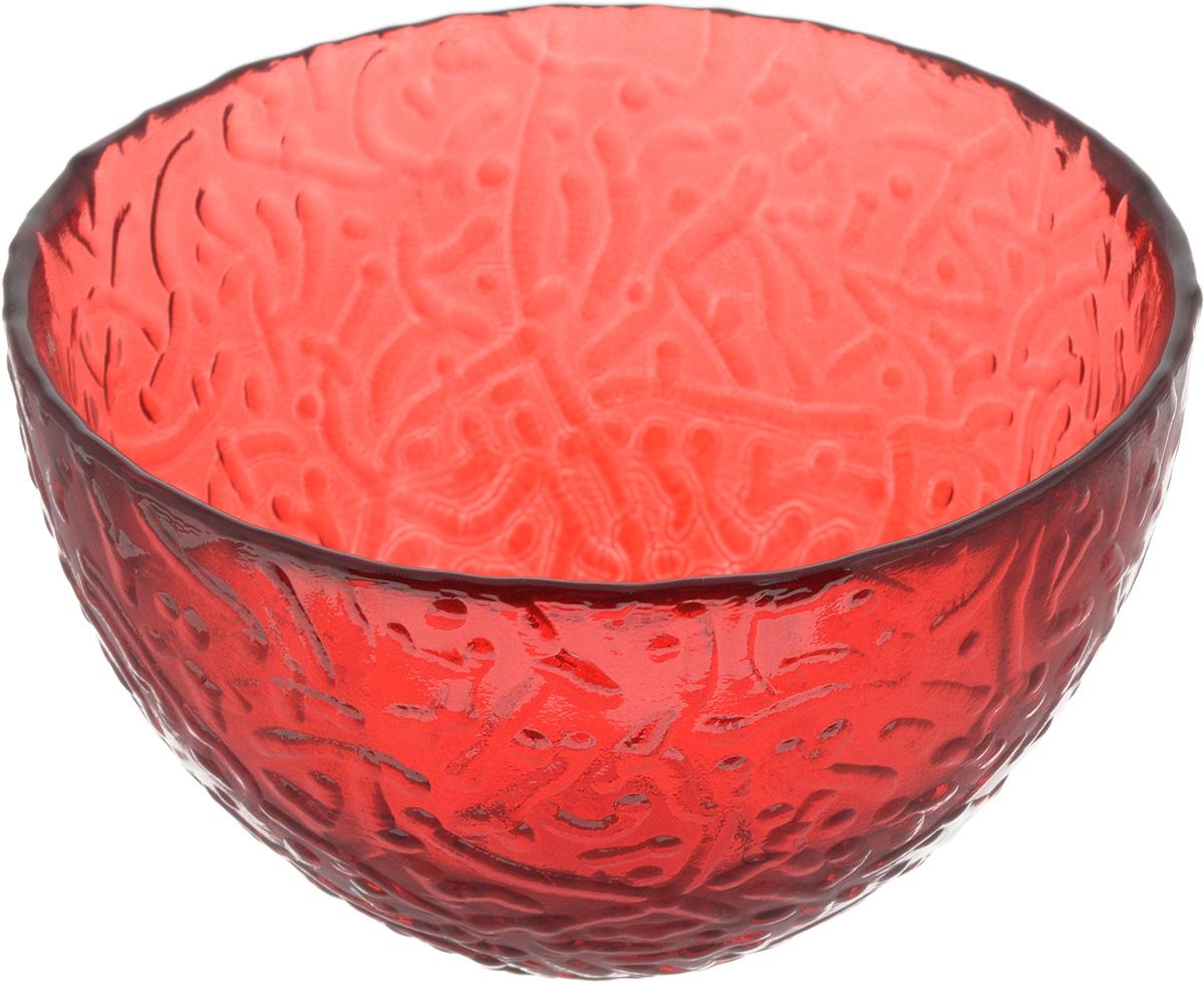 Салатник NiNaGlass Ажур, цвет: рубиновый, диаметр 12 см83-040-Ф120 РУБСалатник NiNaGlass Ажур выполнен из высококачественного стекла и имеет рельефную внешнюю поверхность. Такой салатник украсит сервировку вашего стола и подчеркнет прекрасный вкус хозяйки, а также станет отличным подарком.Диаметр салатника (по верхнему краю): 12 см. Высота салатника: 7,5 см.