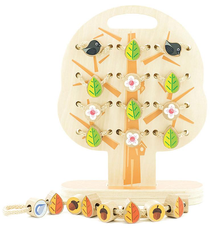Мир деревянных игрушек Обучающая игра Дерево-шнуровка игрушка мир деревянных игрушек лабиринт слон д345