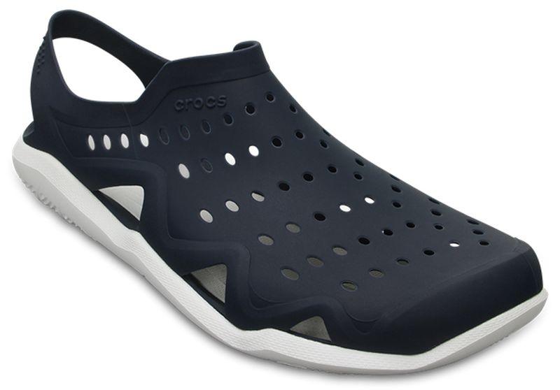 Сабо мужские Crocs Swiftwater Wave Shoe, цвет: темно-синий. 203963-462. Размер 10 (43)203963-462Сабо Crocs придутся вам по душе. Рельефная поверхность верхней части подошвы комфортна при движении. Рифленое основание подошвы гарантирует идеальное сцепление с любой поверхностью. Такие сабо - отличное решение для каждодневного использования!