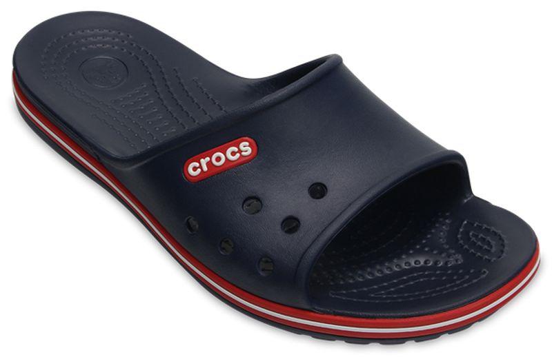Шлепанцы Crocs Crocband II Slide, цвет: темно-синий. 204108-4CC. Размер 7-9 (39/40 )204108-4CCКомфортные шлепанцы из уникального инновационного полимера Croslite™. Материал под воздействием температуры тела позволяет обуви принимать форму ноги и повышает её ортопедические характеристики. Подошва имеет рельефный протектор, который обеспечивает надежное сцепление с поверхностью.