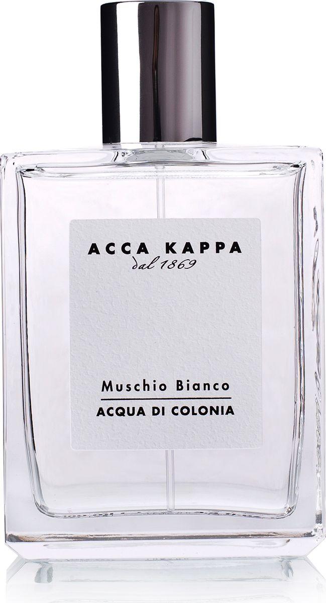 Acca Kappa Одеколон Белый Мускус 50 мл853281Фирменный аромат Acca Kappa в формате одеколона. Аромат Muschio Bianco окружает тело свежестью итальянской весны. Гармоничное сочетание сладких, чувственных нот, легкой древесности, амбры и мускуса. Элегантная композиция для мужчин и женщин, созданная из деликатных, утончённых натуральных ингредиентов. Содержит эфирные масла лаванды и ягод можжевельника.