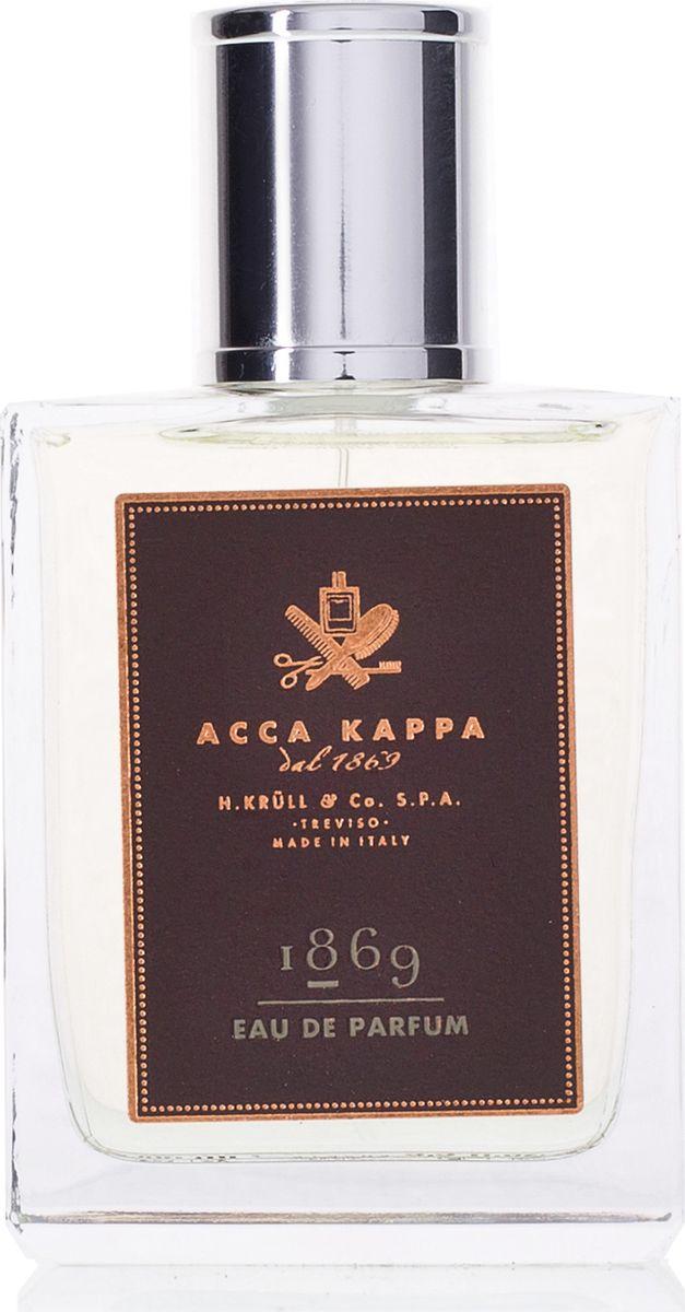Acca Kappa Парфюмерная вода 1869 100 мл853412Acca Kappa 1869 – это воплощение мужественности – сильное, особенное и очень личное. Этот аромат был создан специально для мужчин, которые заботятся о собственном благополучии и ценности всего, что их окружает. Парфюмерная вода 1869 содержит эфирные масла мандарина, апельсина, герани, розового перца, пимента, мускатного ореха, лавра, сосны, ладана и пачули.