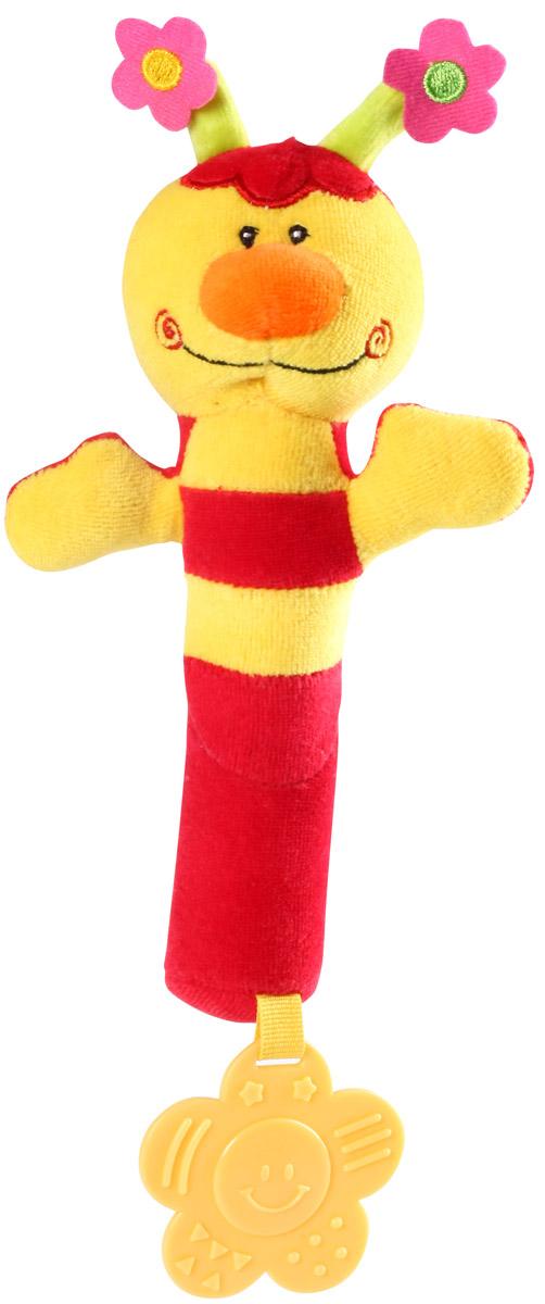 BabyOno Игрушка-пищалка Пчелка цвет желтый красный
