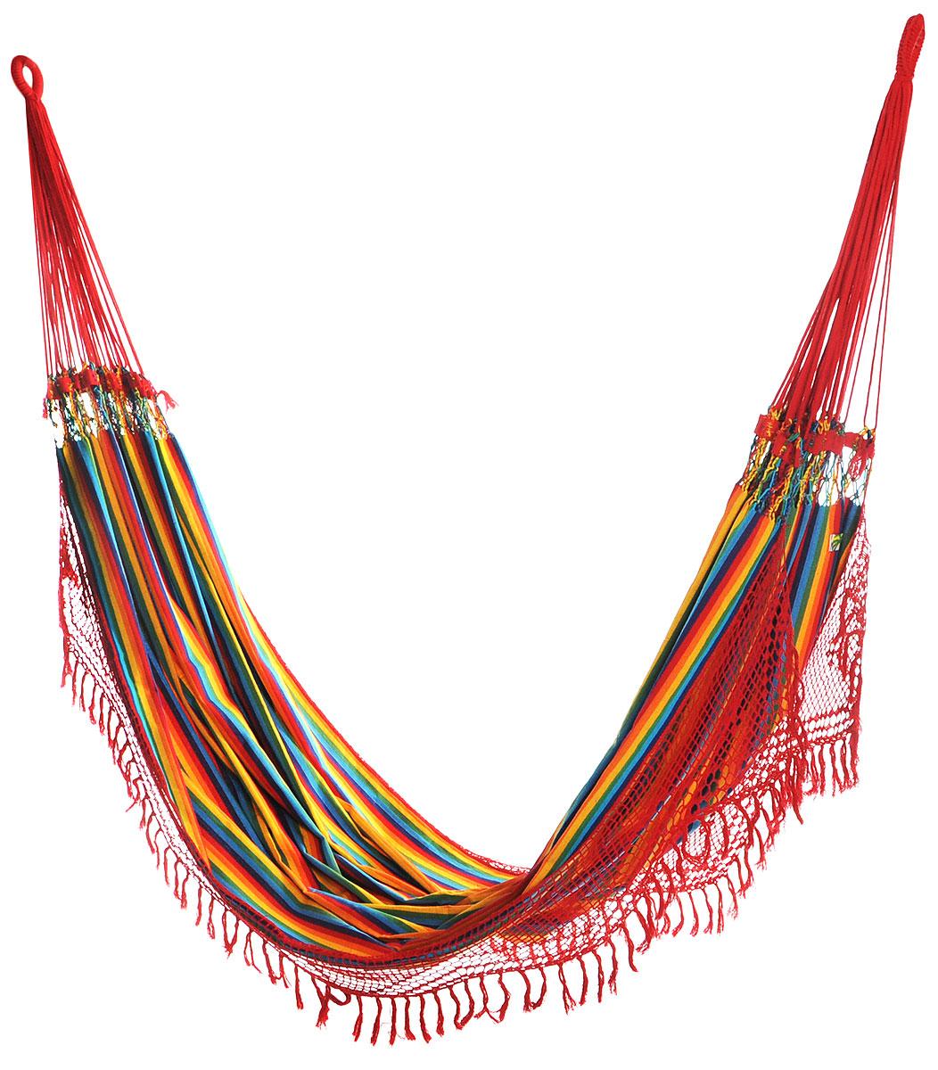Гамак Tysco Naomi, с бахромой, цвет: мультиколор, 400 см х 170 см фея подставка для купания гамак цвет в ассортименте
