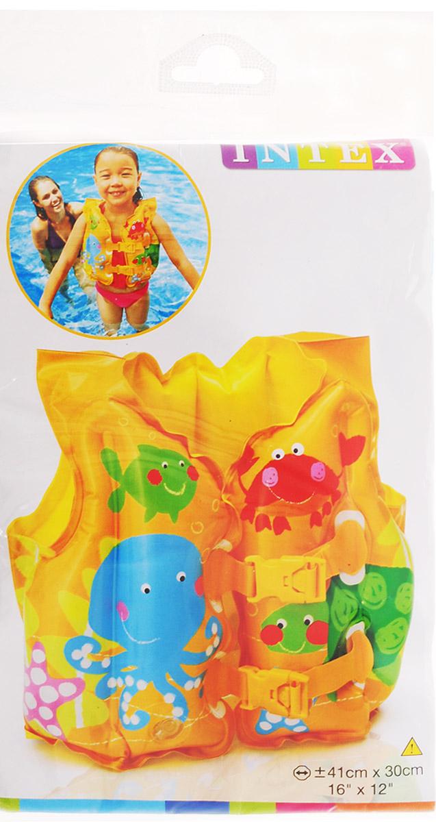 Intex Детский надувной жилет Морская звезда цвет желтый 41 х 30 см