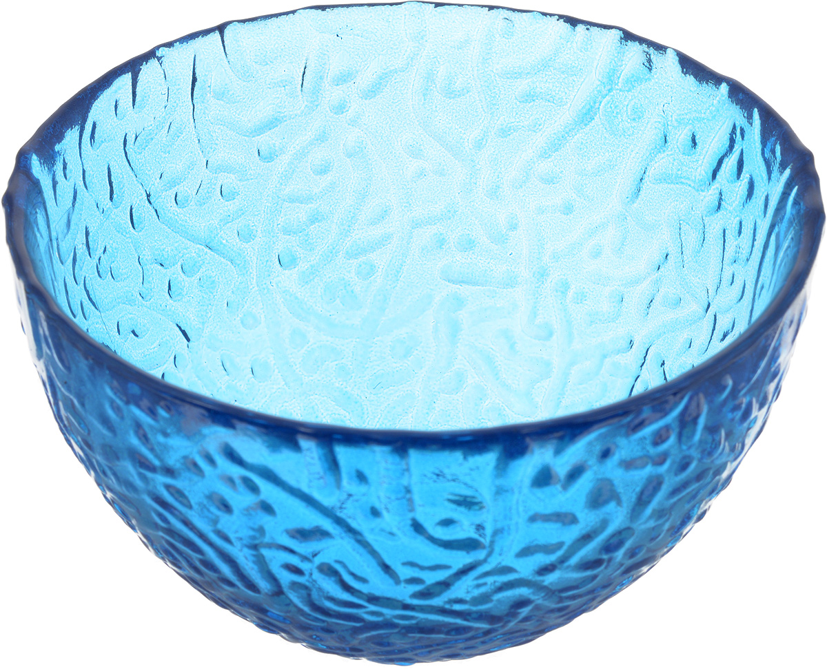 Салатник NiNaGlass Ажур, цвет: синий, диаметр 12 см83-040-Ф120 СИНСалатник NiNaGlass Ажур выполнен из высококачественного стекла и имеет рельефную внешнюю поверхность. Такой салатник украсит сервировку вашего стола и подчеркнет прекрасный вкус хозяйки, а также станет отличным подарком.Диаметр салатника (по верхнему краю): 12 см. Высота салатника: 7,5 см.