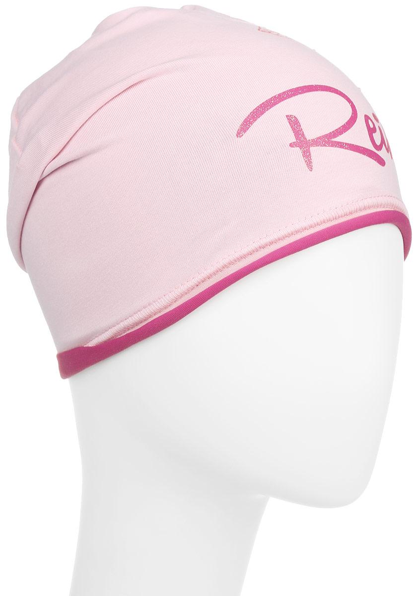 Шапка для девочки Reike Мальва, цвет: розовый. RKNSS17-MAL1. Размер 56RKNSS17-MAL1_pinkСтильная шапка для девочки Reike Мальва, изготовленная из качественного хлопкового материала, отлично впишется в гардероб юной модницы. Модель с контрастным подкладом оформлена цветочным принтом со стразами и блестками в стиле серии. Уважаемые клиенты!Размер, доступный для заказа, является обхватом головы.