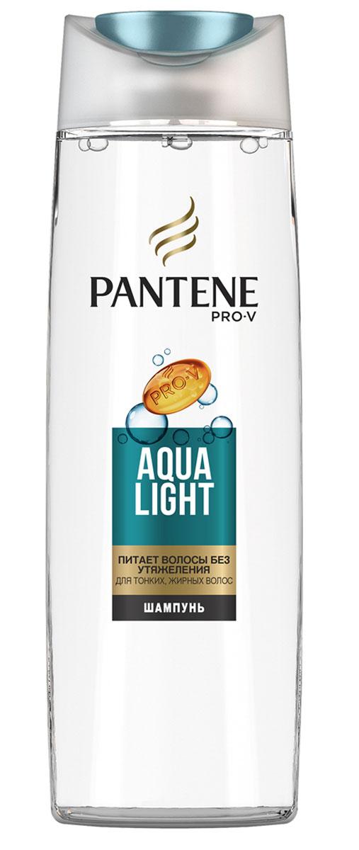Pantene Pro-V Шампунь Aqua Light, для тонких волос, склонных к жирности, 400 мл81601073Благодаря своей легкой формуле шампунь PantenePro-V AquaLight оживляет и очищает волосы от корней до кончиков, авходящие в его состав укрепляющие вещества действуют намикроуровне, питая тонкие волосы и не утяжеляя их. Длянаилучших результатов используйте с бальзамом - ополаскивателем и средствами по уходу Aqua Light.