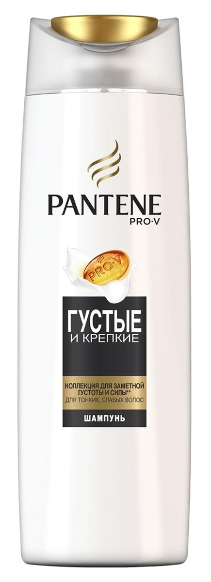 Pantene Pro-V Шампунь Густые и крепкие, для тонких и ослабленных волос, 400 мл81601069Ухаживающая коллекция Pantene Pro-V Шампунь Густые и крепкие включает активные вещества, действующие на микроуровне, которые придают объем и укрепляют защиту волос от повреждений при укладке. Для наилучших результатов используйте с бальзамом-ополаскивателем и средствами для ухода за волосами PantenePro-V Густые и крепкие.