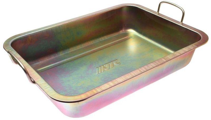 Емкость для слива масла JTC, металлическая, 10 лJTC-AM47Емкость для слива масла JTC представляет собой металлическую ванну небольших размеров. С помощью данного приспособления процесс замены масла в транспорте, а также в других различных механизмах и агрегатах становится значительно проще и удобнее. Ванна надежно защищена от воздействия коррозии и устойчива к различным механическим воздействиям, что обеспечивает продолжительный срок службы изделия.Размеры изделия: 49 х 37 х 10 см.