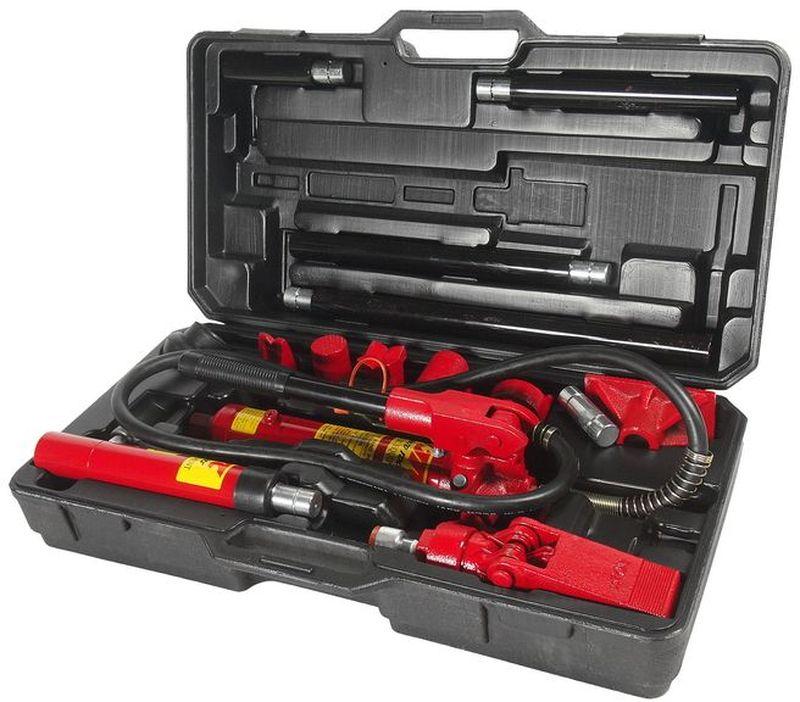 Набор инструментов для кузовных работ JTC, гидравлический, 17 предметов. JTC-HD204JTC-HD204В комплект входят: Ручной односкоростной гидронасос.Шланг соединительный: 1.5 м. Рабочий гидроцилиндр: 4 т. Шток: 100 мм. Гидравлический расширитель: 500 кг.Удлинитель: 400 мм. Удлинитель: 300 мм. Удлинитель: 200 мм. Удлинитель: 100 мм. Коннектор с наружной резьбой. Плоский упор.V-образный упор 90°.Клиновая головка.Упор плунжера.Упор цилиндра.Резиновая головка.Зубчатый упор.Пластиковый кейс. Рабочее усилие: 4 т.Габаритные размеры: -/-/- мм. (Д/Ш/В)Вес: - гр.