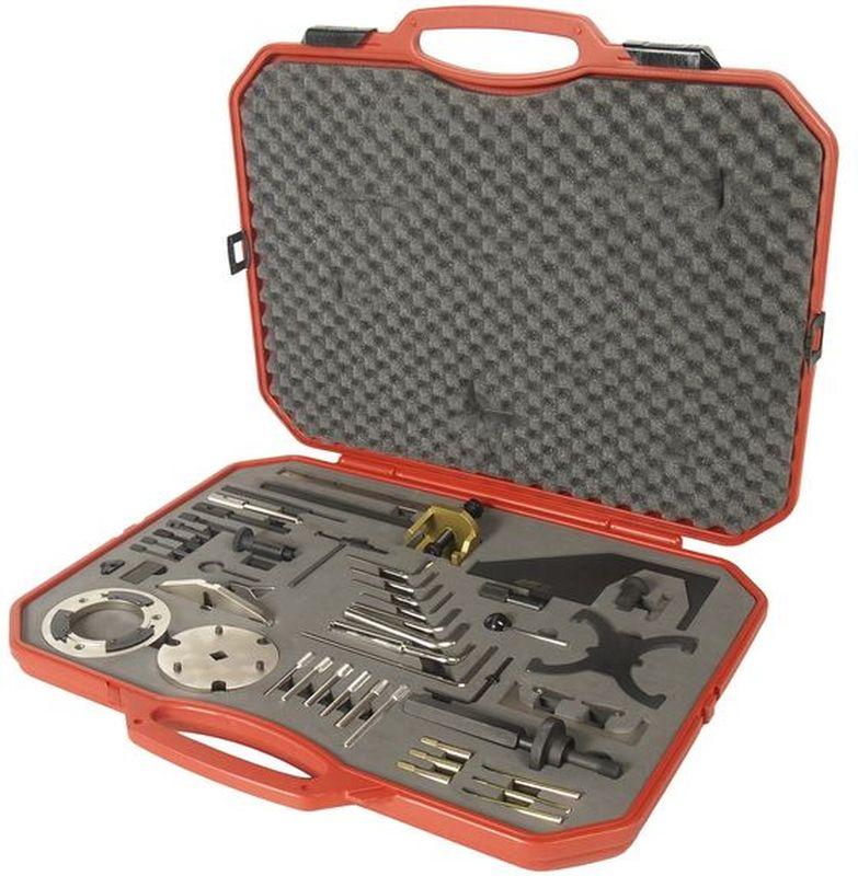 Набор инструментов для установки и регулировки фаз ГРМ JTC, для дизельных двигателей Ford, 51 предмет. JTC-JW0826JTC-JW0826Специально предназначено для регулировки фаз ГРМ. Используется как для бензиновых, так и для дизельных двигателей. Применение: Форд (Ford). В наборе 51 предмет. Упаковка: прочный переносной кейс. Габаритные размеры: -/-/- мм. (Д/Ш/В) Вес: - гр.
