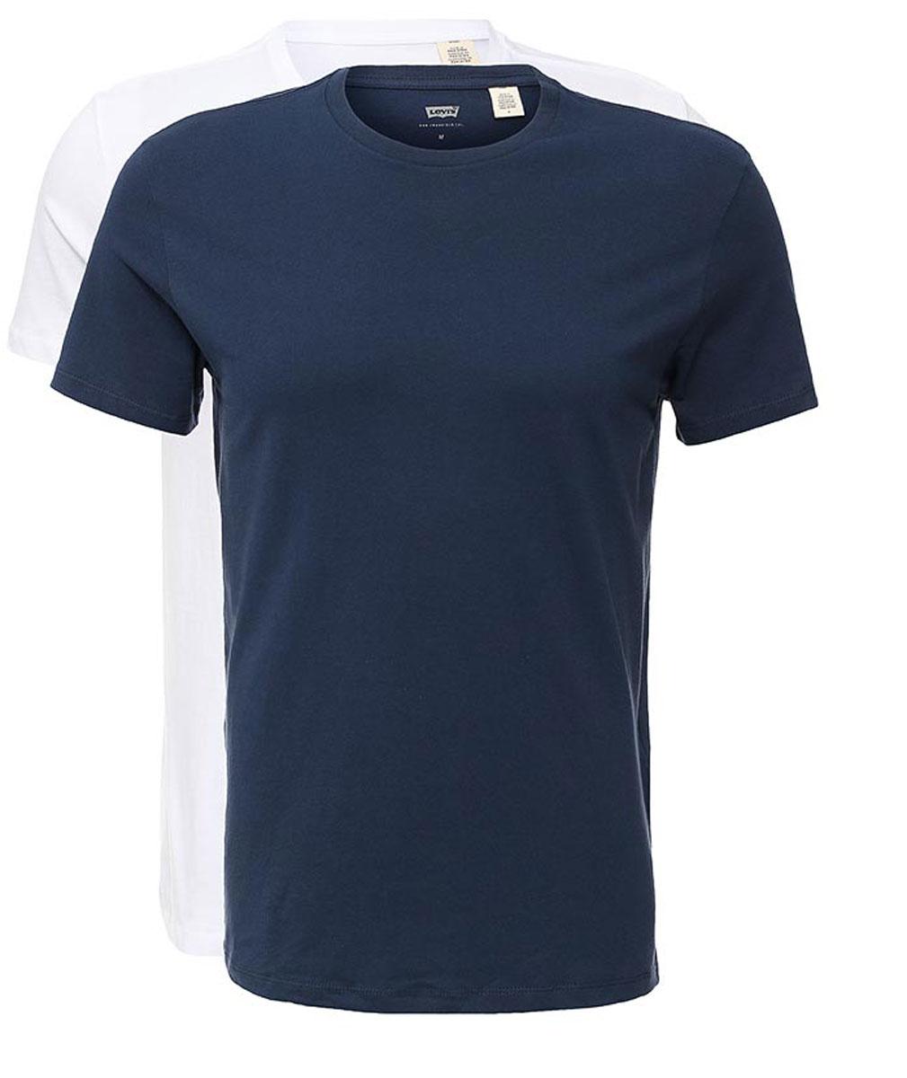 Купить Футболка мужская Levi's®, цвет: темно-синий, белый 2 шт. 8217600040. Размер S (46)