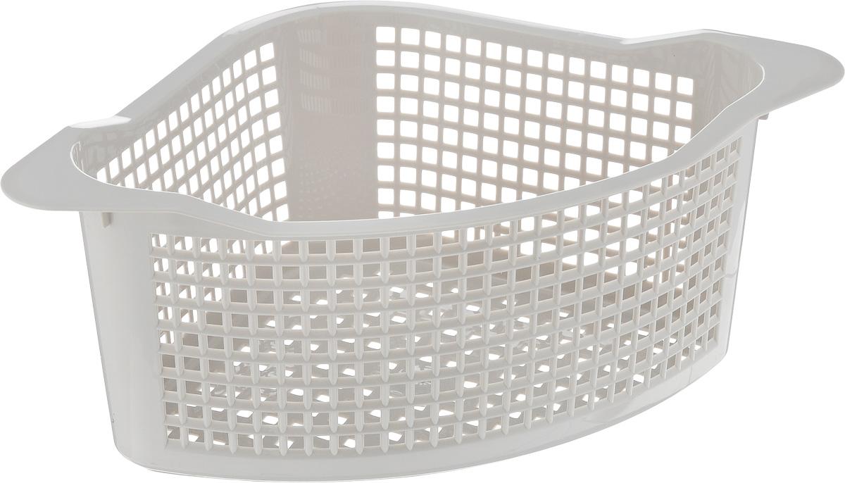 Корзинка универсальная Econova, угловая, цвет: серый, 29 х 18 х 12 см718343_серыйУниверсальная угловая корзинка Econova, изготовленная из высококачественного прочного пластика, предназначена для хранения мелочей в ванной, на кухне или даче.Это легкая корзина с жесткой кромкой и небольшими отверстиями позволяет хранить мелкие вещи, исключая возможность их потери. Размер: 29 см х 18 см х 12 см.
