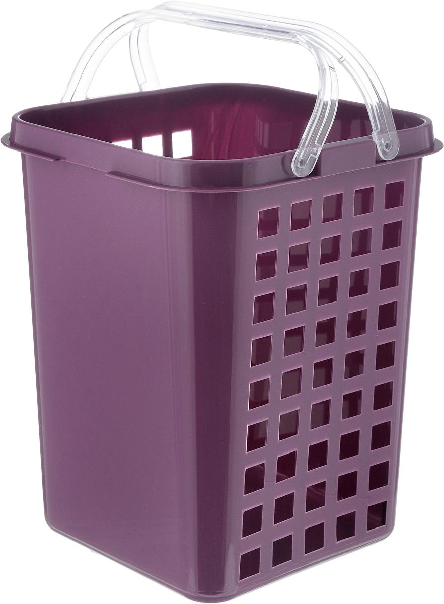 Корзина универсальная Econova, с ручками, цвет: фиолетовый, 19 х 18,5 х 23 см718339_фиолетовыйУниверсальная корзинка Econova, изготовленная из пластика, прекрасно подойдет для хранения бытовой химии, мелкого белья, домашних мелочей, металлических инструментов и других предметов. Корпус корзины декорирован квадратными отверстиями. Благодаря двум ручкам ее легко переносить с места на место.