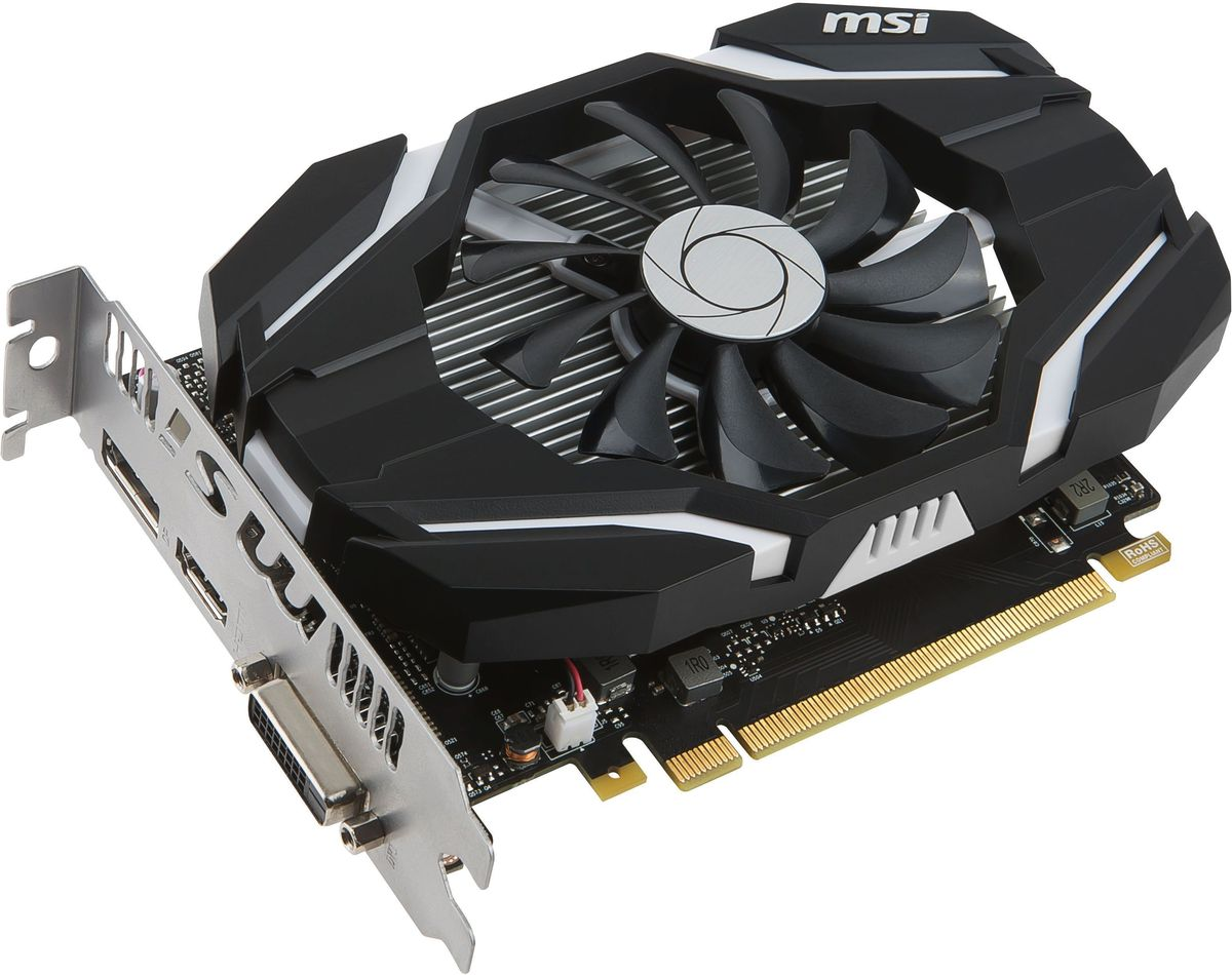 MSI GeForce GTX 1050 2G OC 2Gb видеокарта видеокарта galaxy gtx750ti 2g gtx780 660