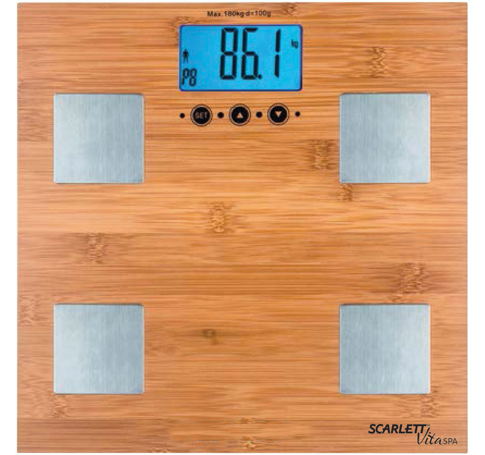 Scarlett SC-BS33ED79, Bamboo весы напольные - Напольные весы