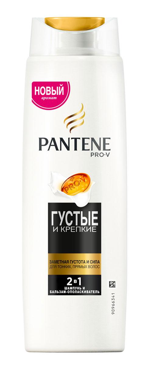Pantene Pro-V Шампунь 2в1 Густые и крепкие, для тонких и ослабленных волос, 400 мл81601127Шампунь и бальзам-ополаскиватель PantenePro-V 2-в-1 Густыеи крепкие содержит усовершенствованную формулуPantenePro-V. Ухаживающий шампунь 2в1 Густые и крепкиесодержит активные вещества, действующие на микроуровне,которые придают объем и укрепляют защиту волос отповреждений при укладке. Для наилучших результатовиспользуйте с бальзамом-ополаскивателем и средствами дляухода за волосами PantenePro-V Густые и крепкие.