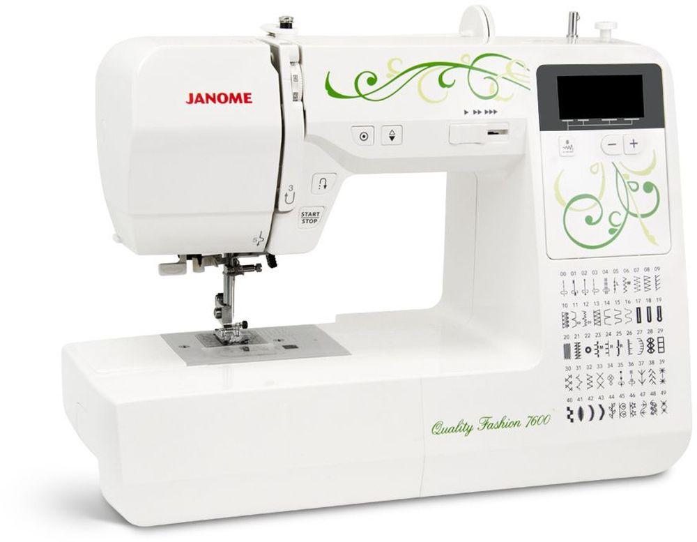 Janome QF 7600 швейная машинаQF 760050 операций , 4 вида автоматических петель, дисплей, нитевдеватель