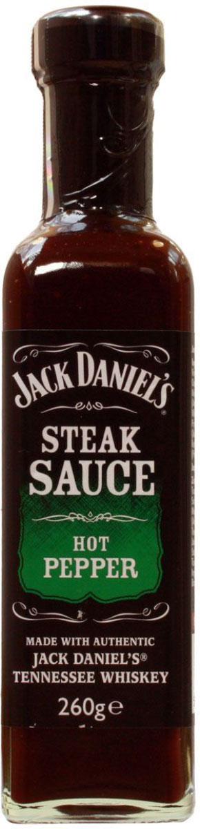 Jack Daniels соус для стейка с острым перцем, 260 г5012427032101Соус на основе виски Jack Daniels для стейка с острым перцем.Этот невероятный соус подарит вам сладкий вкус и пикантную остринку. Идеально подходит к жареным на барбекю блюдам из красного мяса. Отличный способ оживить повседневный вкус любимых продуктов.