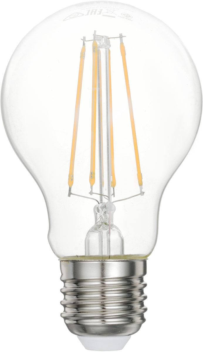 Лампа светодиодная Philips LED bulb, цоколь E27, 6W, 2700KЛампа LEDClassic 6-70W A60 E27 WW CL APRСовременные светодиодные лампы LED bulb экономичны, имеют долгий срок службы и мгновенно загораются, заполняя комнату светом. Лампа оригинальной формы и высокой яркости позволяет создать уютную и приятную обстановку в любой комнате вашего дома.Светодиодные лампы потребляют на 91% меньше электроэнергии, чем обычные лампы накаливания, излучая при этом привычный и приятный теплый свет. Срок службы светодиодной лампы LED bulb составляет до 15 000 часов, что соответствует общему сроку службы пятнадцати ламп накаливания. Благодаря чему менять лампы приходится значительно реже, что сокращает количество отходов.Напряжение: 220-240 В. Световой поток: 806 lm.Эквивалент мощности в ваттах: 70 Вт.