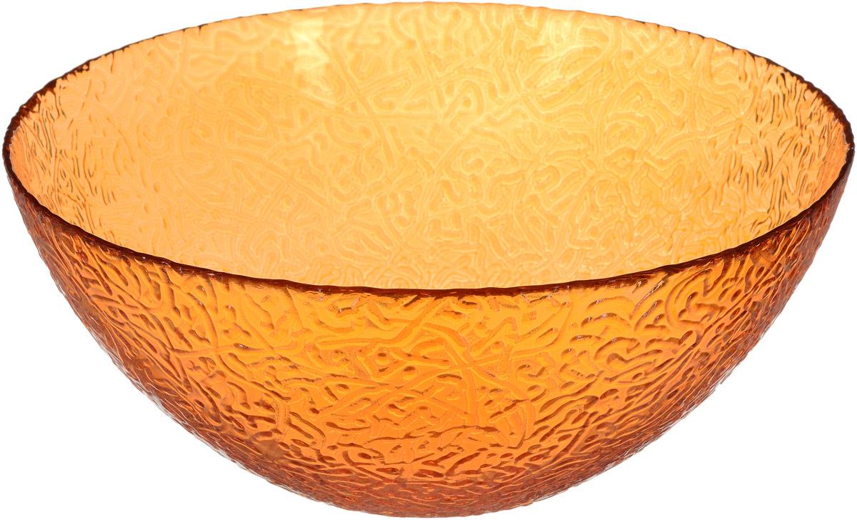 Салатник NiNaGlass Ажур, цвет: оранжевый, диаметр 25 см салатник nina glass ажур цвет сиреневый диаметр 16 см