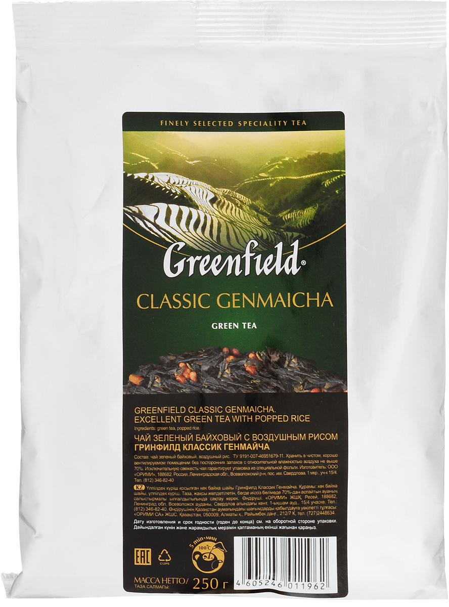 Greenfield Classic Genmaicha чай зеленый листовой с воздушным рисом, 250 г