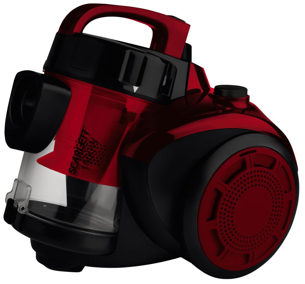 Scarlett SC-VC80C11, Red пылесосSC-VC80C11С помощью пылесоса с контейнером для пыли Scarlett SC-VC80C11 можно убрать пыль, грязь, мелкий мусор с пола и ковров, а также почистить мягкую мебель.Несмотря на компактные размеры, пылесос обладает высокой мощностью всасывания, поэтому уборка с его помощью будет быстрой и качественной.Насадки, входящие в комплект, расширяют возможности пылесоса. Вы можете воспользоваться насадкой для ковров, насадкой для мягкой мебели, а также щелевой насадкой.После того как уборка закончена, сетевой шнур сматывается автоматически.Как выбрать пылесос. Статья OZON Гид