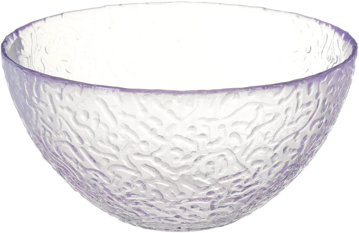 Салатник NiNaGlass Ажур, цвет: светло-сиреневый, диаметр 16 см ваза ninaglass дана цвет шоколад высота 16 см