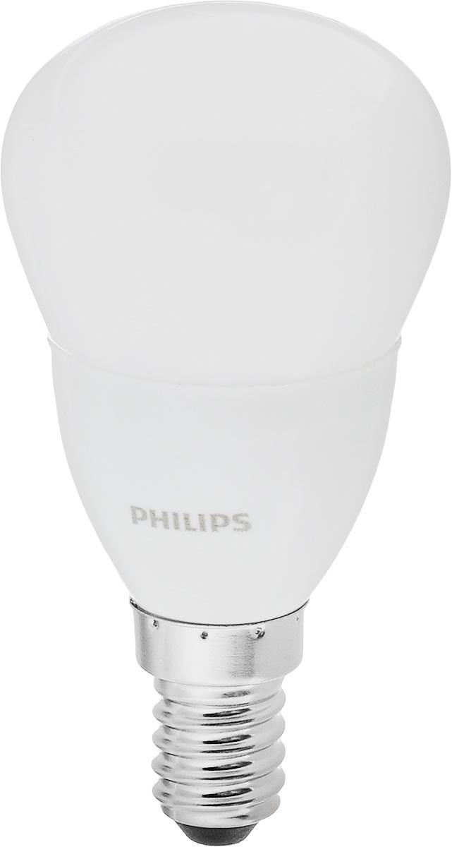 Лампа светодиодная Philips CorePro LEDluster, цоколь E14, 5,5W, 2700KЛампа CorePro ND 5.5-40W E14 827 P45 FRСовременные светодиодные лампы CorePro LEDluster экономичны, имеют долгий срок службы и мгновенно загораются, заполняя комнату светом. Светодиодные лампы позволят создать уютную и приятную обстановку в любой комнате вашего дома.Светодиодные лампы потребляют на 90% меньше электроэнергии, чем обычные лампы накаливания, излучая при этом привычный и приятный свет. Срок службы светодиодной лампы составляет до 15 000 часов, что соответствует общему сроку службы пятнадцати ламп накаливания. Благодаря этому менять лампы приходится значительно реже, что сокращает количество отходов.Напряжение: 220-240 В.