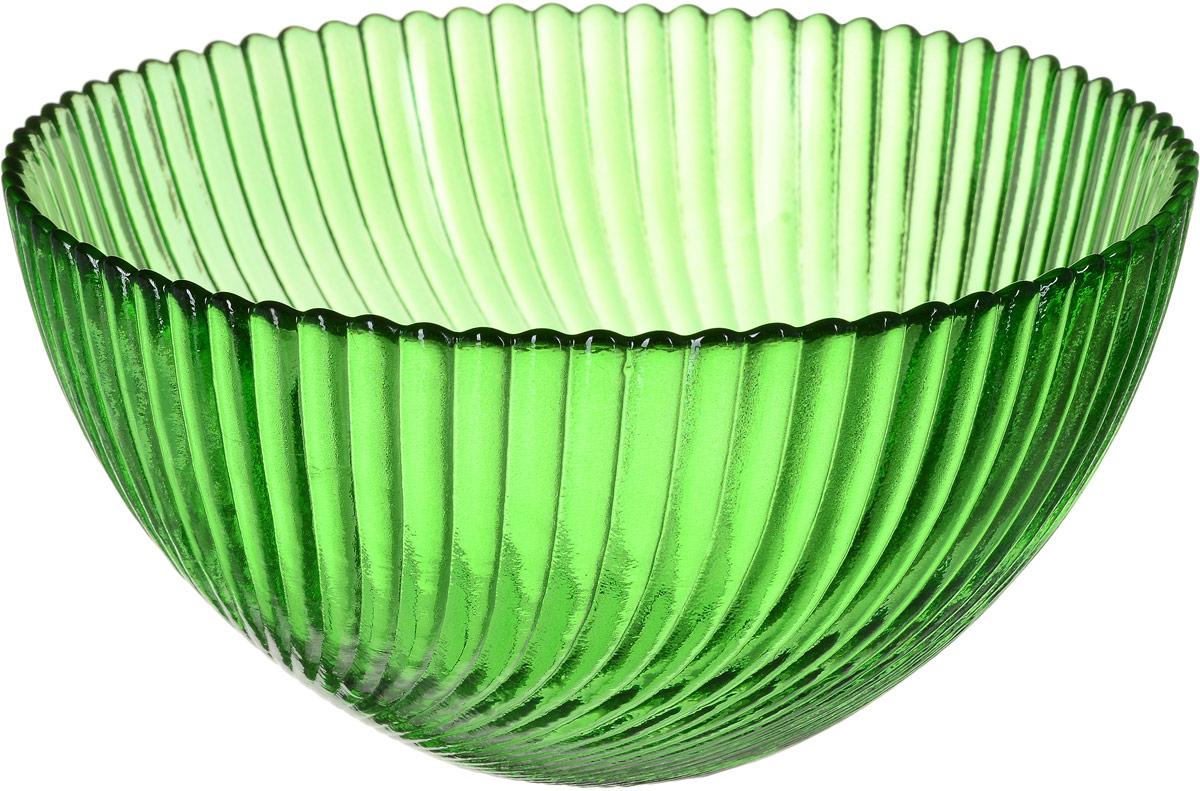 Салатник NiNaGlass Альтера, цвет: зеленый, диаметр 16 см83-037-Ф160 ЗЕЛСалатник NiNaGlass  Альтера выполнен из высококачественного стекла. Внешние стенки декорированы красивым рельефным узором. Салатник идеален для сервировки салатов, овощей, ягод, сухофруктов, гарниров и многого другого. Он отлично подойдет как для повседневных, так и для торжественных случаев.Такой салатник прекрасно впишется в интерьер вашей кухни и станет достойным дополнением к кухонному инвентарю. Диаметр салатника (по верхнему краю): 16 см. Высота стенки: 9 см.